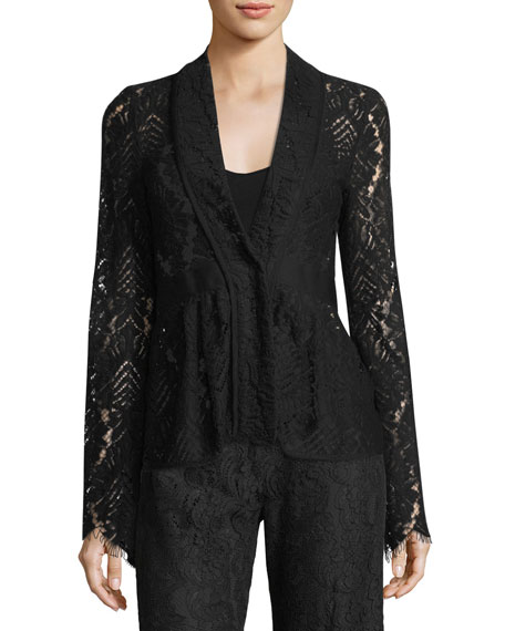 Nanette Lepore Genevieve One-Button Lace Jacket
