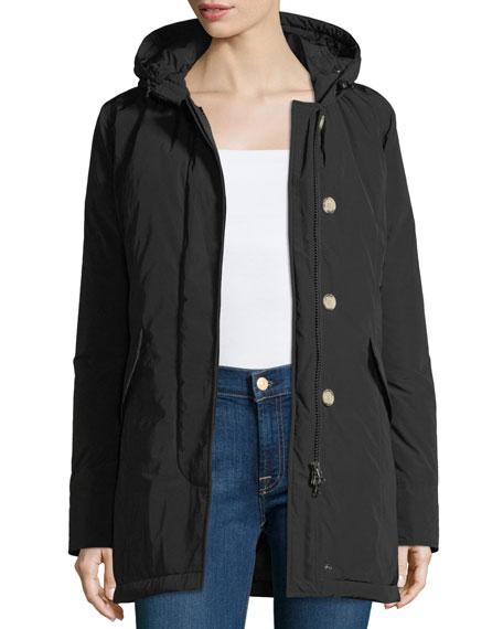Luxury Arctic Hooded Parka Coat w/ Fur