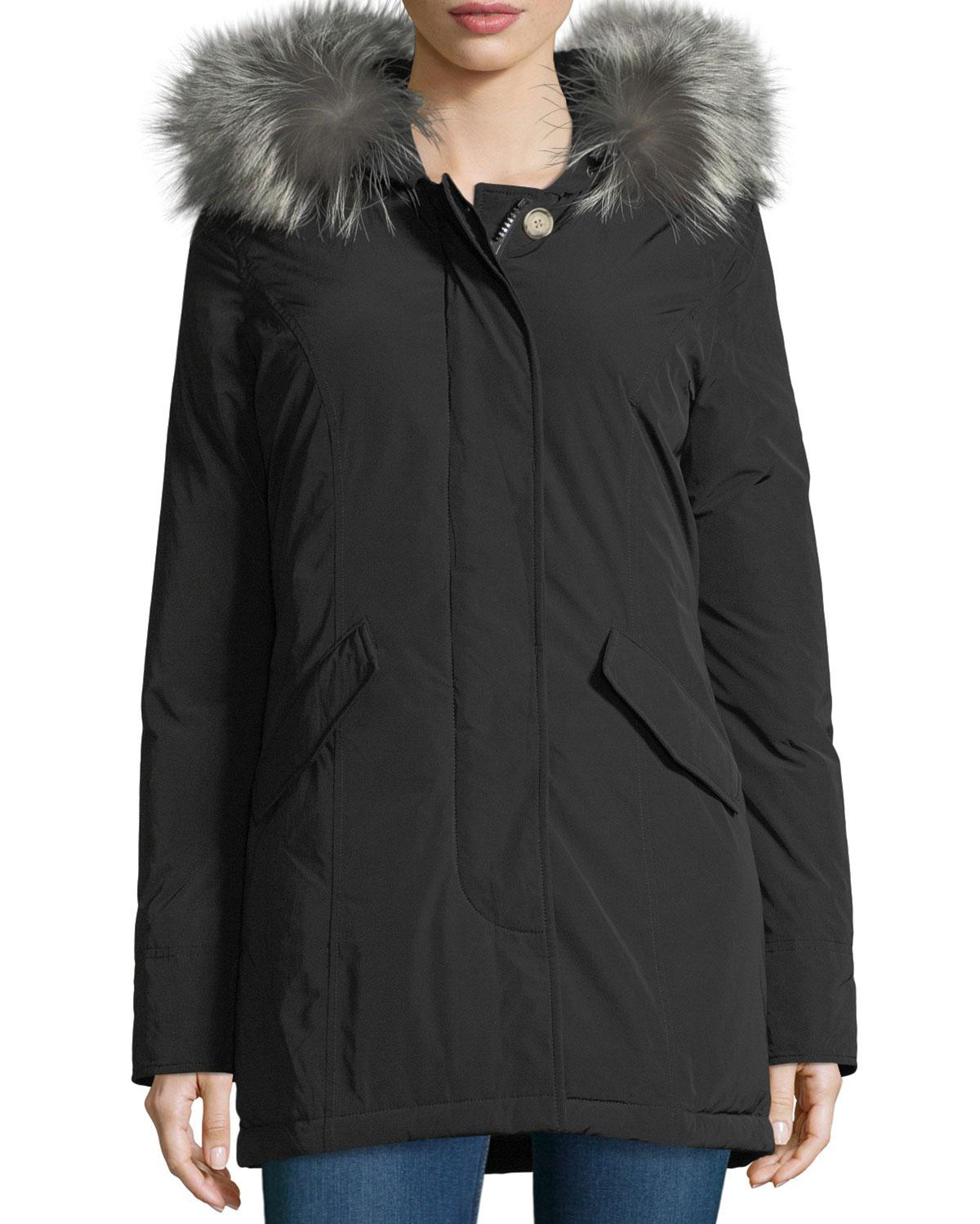 f51de5cc8f7bb Woolrich Luxury Arctic Hooded Parka Coat w  Fur