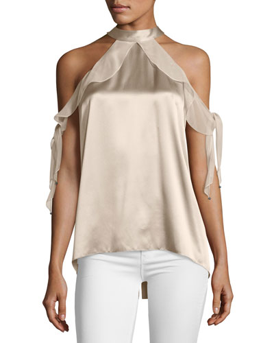 Renna Cold-Shoulder Blouse