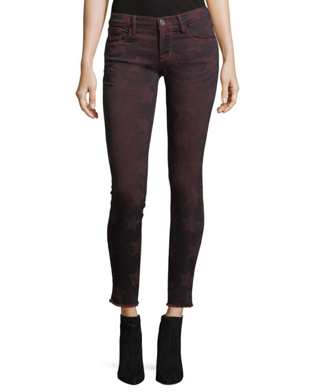 Roos Mid-Rise Skinny Star-Graphic Pants