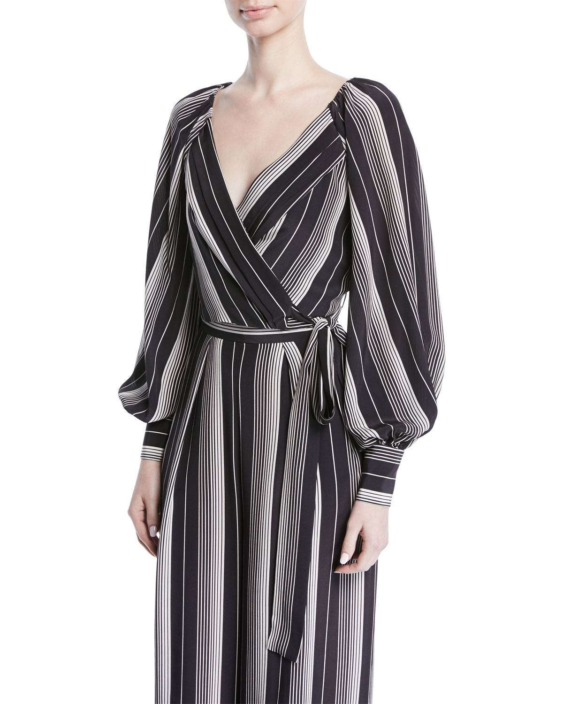 59e1a3599abbd Zimmermann Breeze Long-Sleeve Striped Silk Wrap Blouse