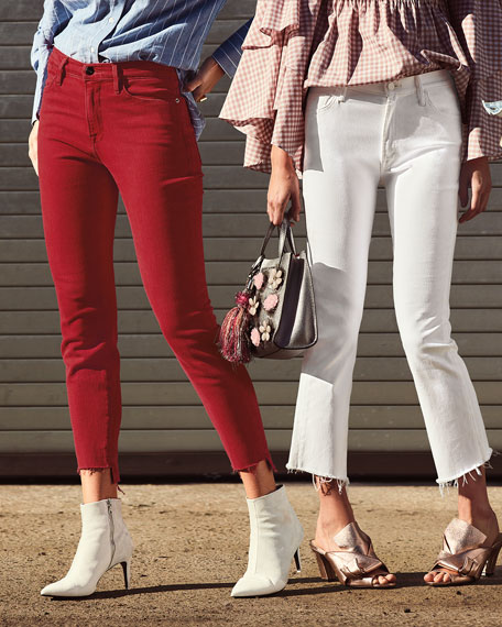 Le High Skinny Jeans with Raw Stagger Hem
