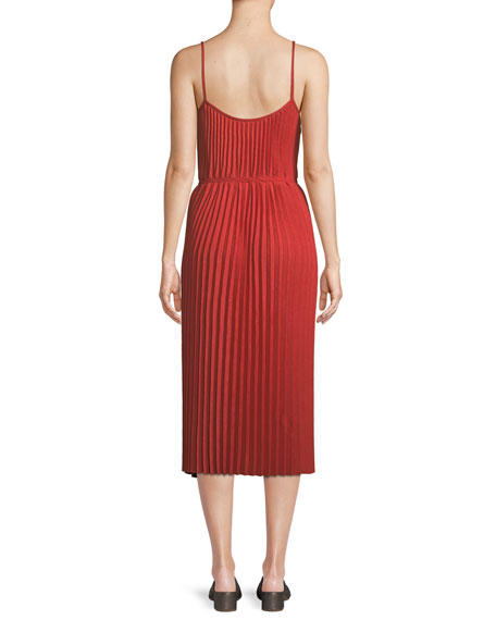 Image 3 of 4: Pleated Cami Midi Dress