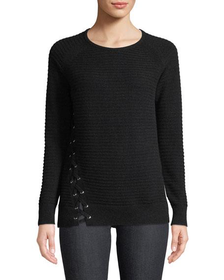 Neiman Marcus Cashmere Collection Cashmere Long-Sleeve Crewneck