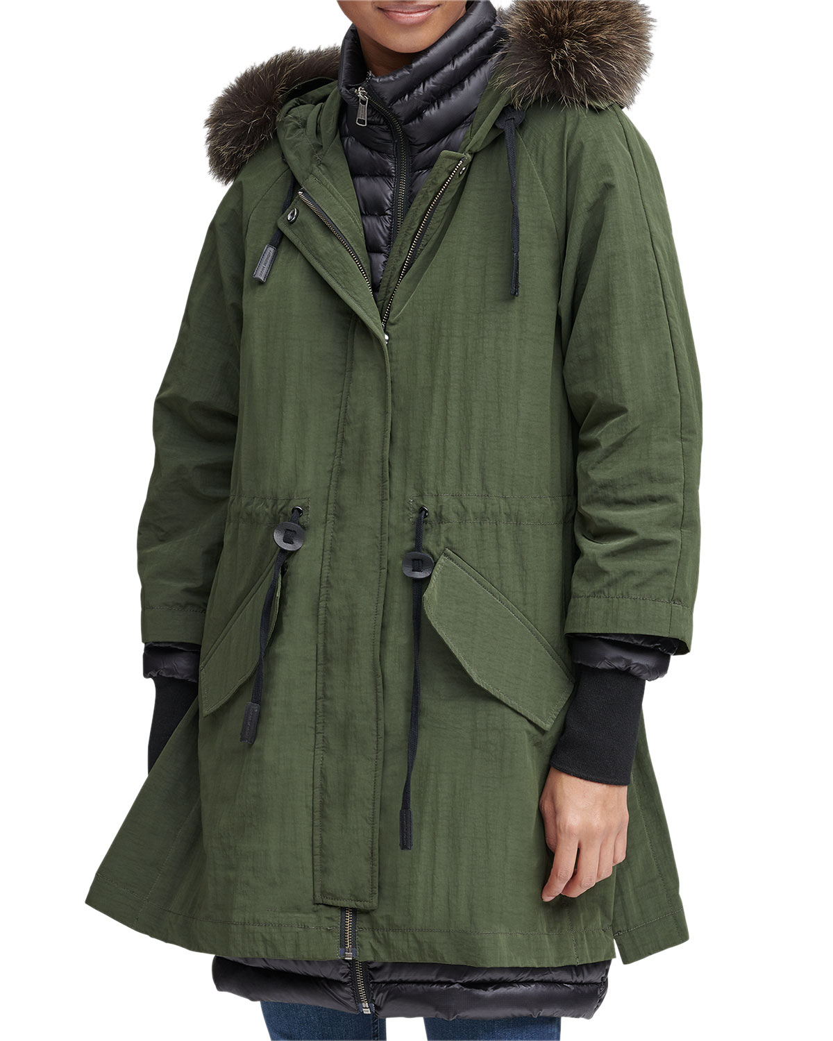 fe171950166 Andrew Marc Brixton Fur Trimmed Hooded Down Parka Coat | Neiman Marcus