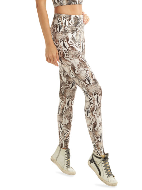 Image 4 of 4: Koral Lustrous High-Rise Camo-Print Leggings