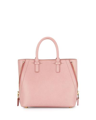 Jennifer Small Trap Calfskin Tote Bag, Pink