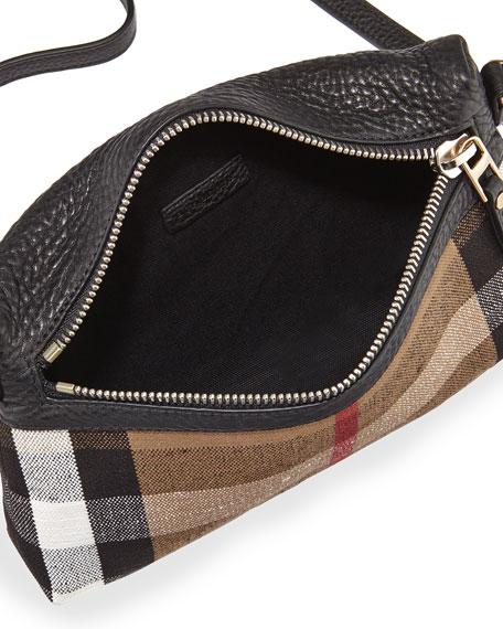 Burberry Check Crossbody Bag Black