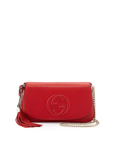 Gucci Soho Medium Crossbody Bag, Red | Neiman Marcus