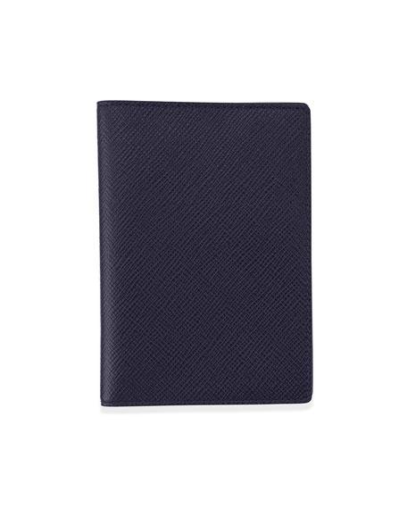 Panama Leather Passport Cover, Navy