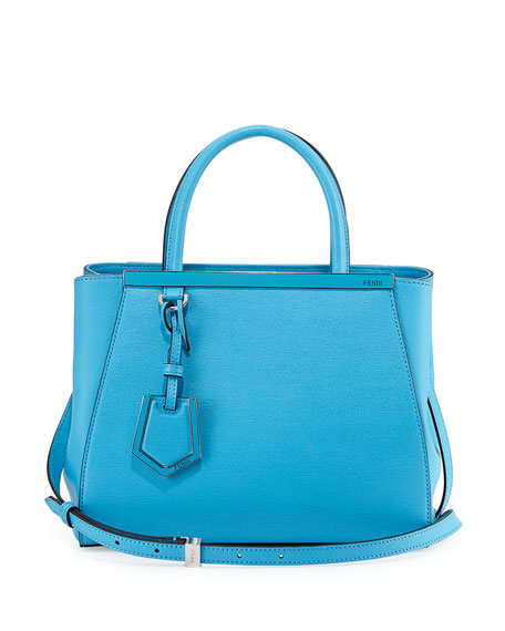 Fendi 2Jours Petite Satchel Bag, Medium Blue
