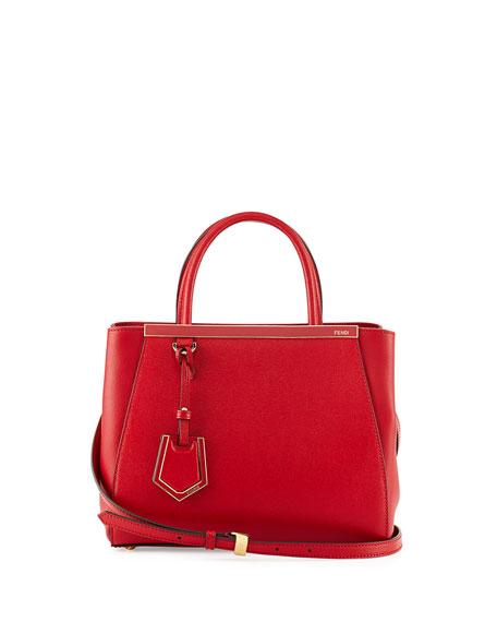 Fendi 2Jours Petite Satchel Bag, Red