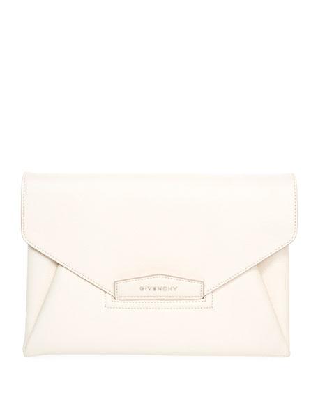 Givenchy Antigona Leather Evening Envelope Clutch Bag, Black