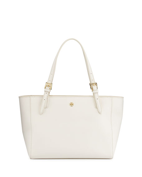 Tory Burch York Small Saffiano Tote Bag, New Ivory