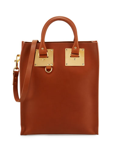 Mini Albion North-South Tote Bag, Tan