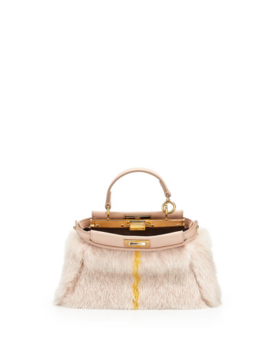 Mirco Peekaboo Satchel Bag, Light Pink