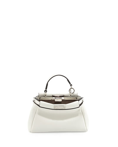 Micro Peekaboo Satchel Bag, White