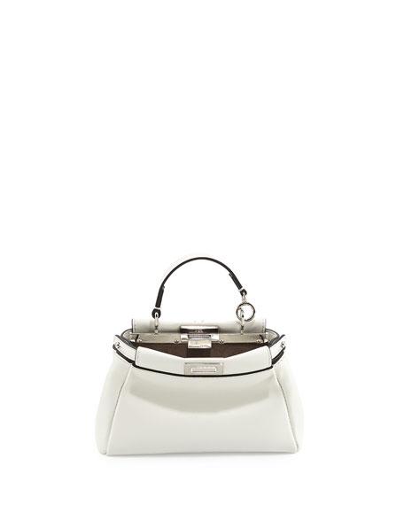 Peekaboo Micro Satchel Bag, White