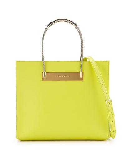 AJ Cable-Handle Shopper Tote, Yellow