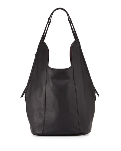 Meadow Lambskin Tote Bag, Black
