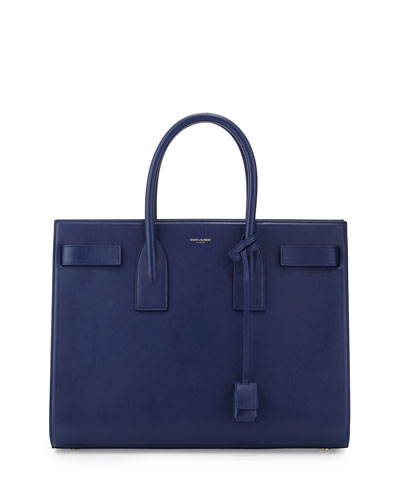Classic Sac De Jour Leather Tote Bag, Blue