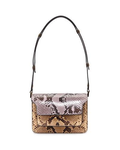 Python Mini Trunk Shoulder Bag, Multi