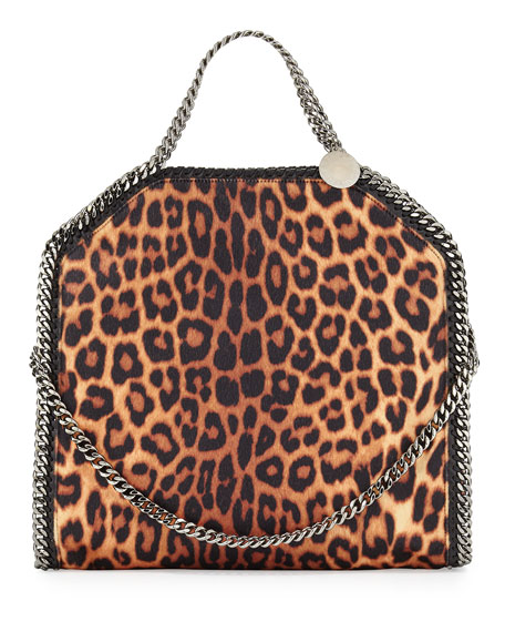 Stella McCartney Falabella Small Leopard-Print Tote Bag