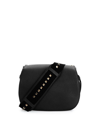 Band Rockstud Round Messenger Bag, Black