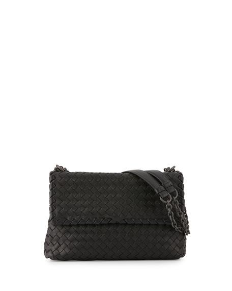 Bottega Veneta Olimpia Small Shoulder Bag, Black