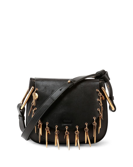 Image 1 of 5: Hudson Mini Charm Shoulder Bag, Black