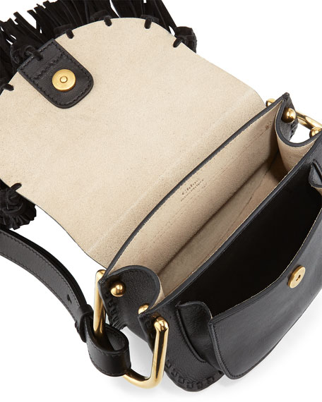 Chloe Hudson Mini Fringe Shoulder Bag, Black