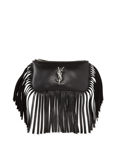 Monogram Small Fringe Flap-Less Key Pouch
