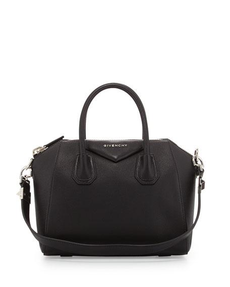 Givenchy Antigona Small Leather Satchel Bag, Black