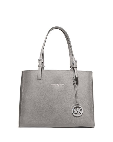 af91664e6c3e Image 1 of 2: MICHAEL Michael Kors Jet Set Travel Medium Leather  Multifunction Tote Bag