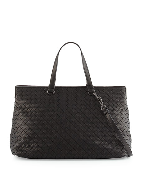 Bottega Veneta Intrecciato Large Accordion Tote Bag, Black