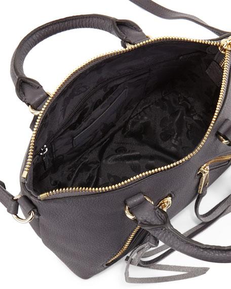 Micro Moto Satchel Bag, Pewter