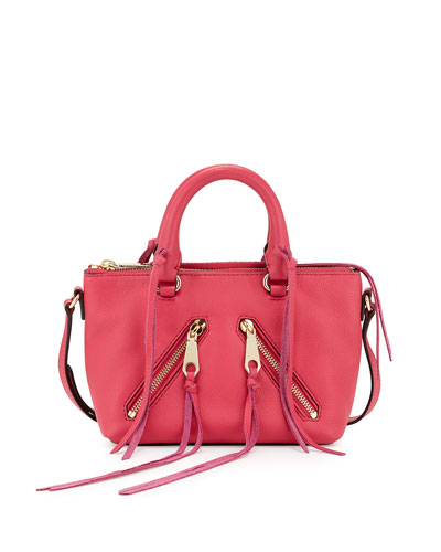 Micro Moto Satchel Bag, Bright Fuchsia