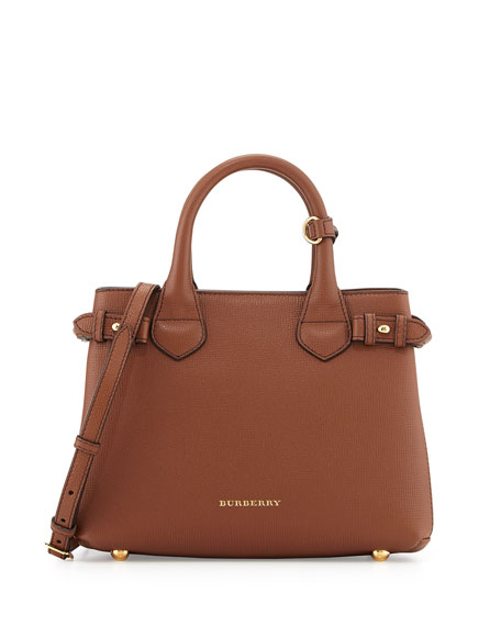 Burberry Banner House Check Derby Tote Bag, Tan