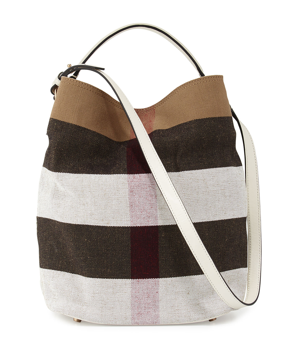 5dc8fde89065 Burberry Ashby Medium Mega Check Bucket Bag