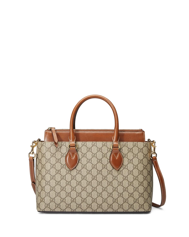f6e6b7c62eef35 Gucci GG Supreme Tote Bag, Brown | Neiman Marcus