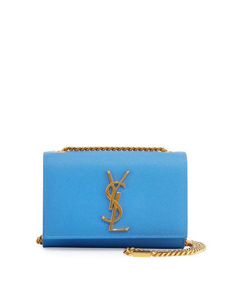 Saint Laurent Monogram Small Crossbody Bag, Light Blue