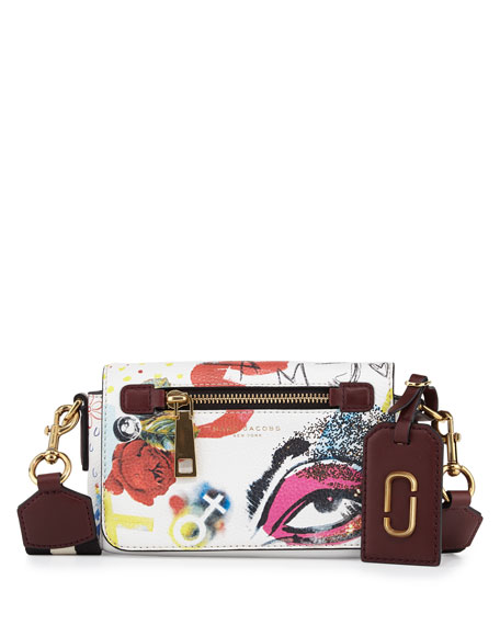 Marc Jacobs Collage Leather Crossbody Bag, Off White