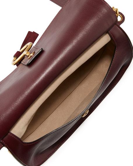 Chloe Kurtis Medium Suede/Leather Studded Shoulder Bag, Dark Purple