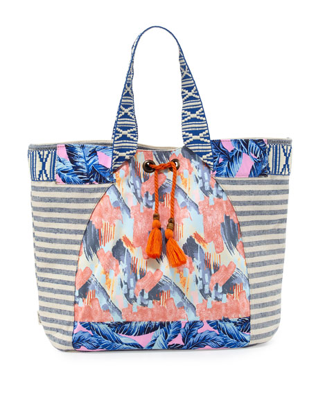 Multi-Print Beach Tote Bag