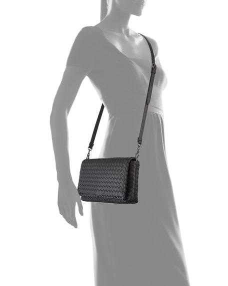 8654c6f0f0 Image 4 of 4: Bottega Veneta Small Intrecciato Flap Clutch Bag w/Strap,