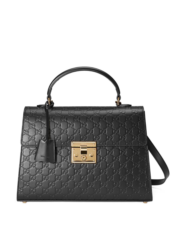 Gucci Padlock Medium Guccissima Top-Handle Satchel Bag  65bc571ca5fb9