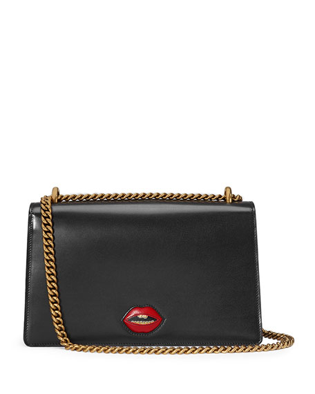GG Marmont Medium Heart Shoulder Bag, Black/Multi
