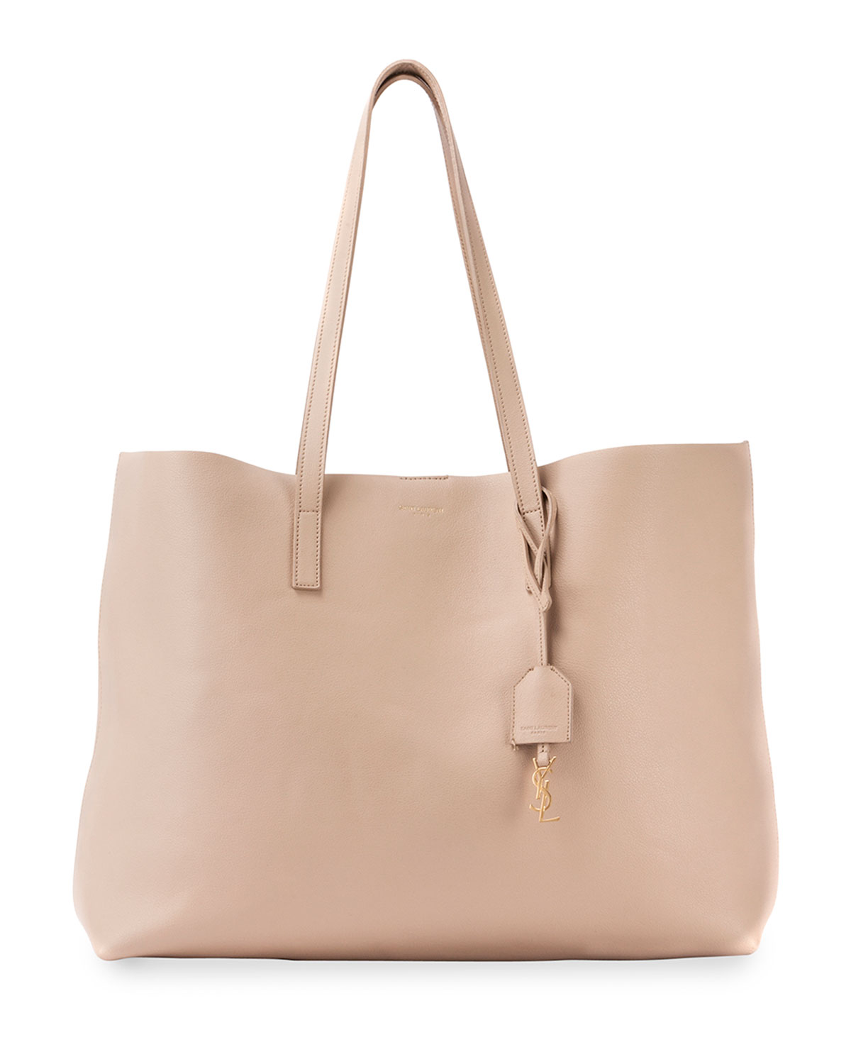 Large Shopping Tote Bag Beige