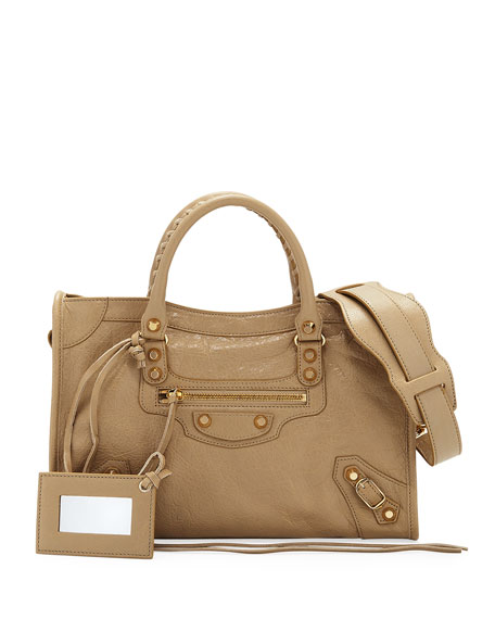 Balenciaga Classic City Golden Small Arena Satchel Bag